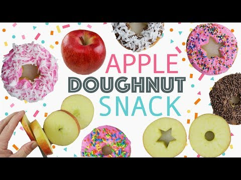 DIY Apple Doughnuts | Easy After School Snack For Kids | Healthy Cute Recipes