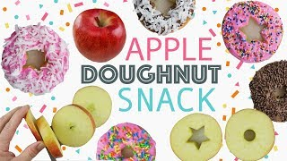 DIY Apple Doughnuts  Easy After School Snack For Kids  Healthy Cute Recipes