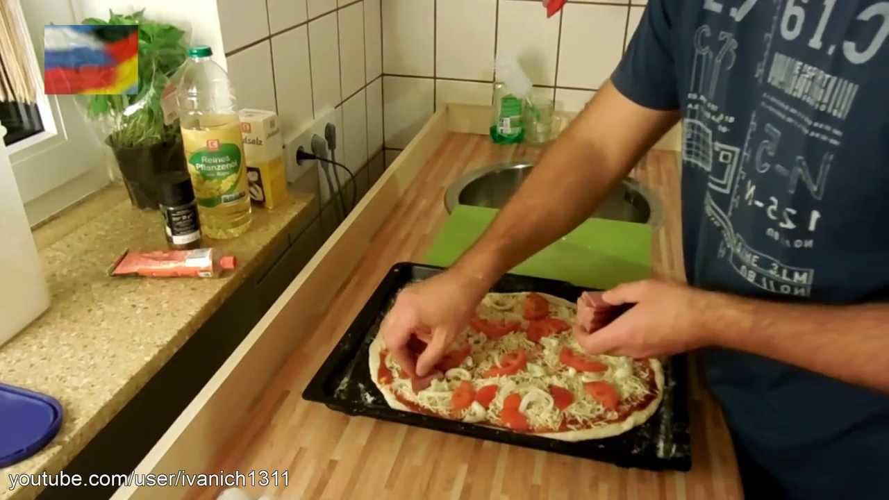 как приготовить пиццу дома в духовке рецепты