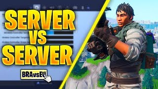Server Vs Server In Fortnite Season 7 (BRAZIL VS EU)