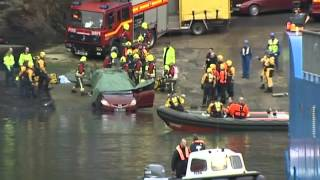 Car plunges into Fal River