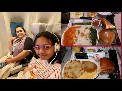 Emirates Economy Class Indian Food Review (India To USA) | Flight Vlog | Simple Living Wise Thinking