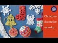 Handmade Christmas decorations roundup. Crocheted and knitted Christmas ornaments