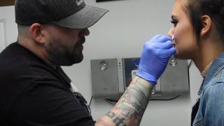 Nose piercing... WATCH for AFTERCARE TIPS [Pierced by Craig Kelley]