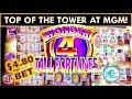 I CLIMBED TO THE TOP OF THE TOWER! TWICE! Tall Fortunes Slot Machine Super Free Games! Buffalo Gold