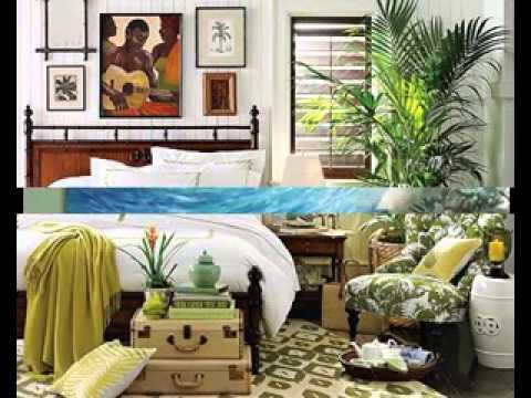 Tropical themed bedroom ideas - YouTube