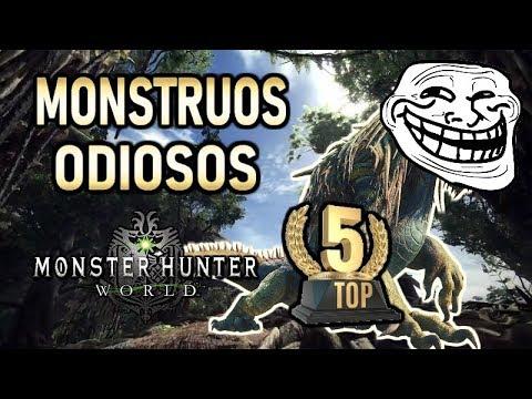 TOP 5 MONSTRUOS ODIOSOS (juego original) - Monster Hunter World (Gameplay Español) thumbnail