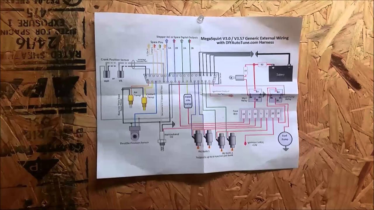 basic wiring of megasquirt - youtube 1986 300zx engine wiring diagram