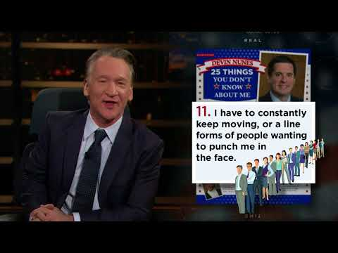 25 Things You Don't Know about Devin Nunes | Real Time with Bill Maher (HBO)