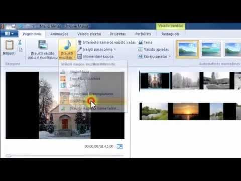 Windows Live Movie Maker 2012: pirmas projektas – foto filmas