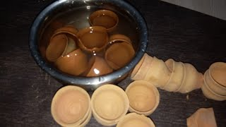 THINNEST AND EARTHIEST SMELLING mini clay pots breaking nd in Water /whtspp9931119802(dontCall plz)