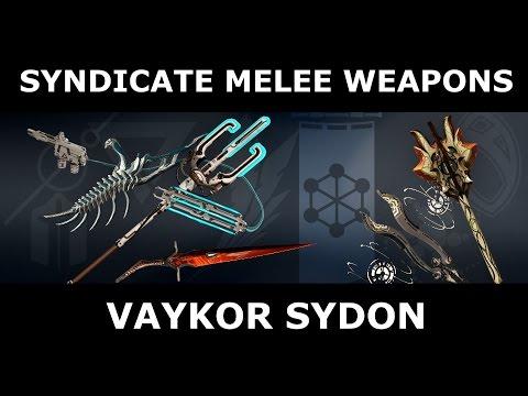 Syndicate Melee Weapons - Vaykor Sydon (Steel Meridian)
