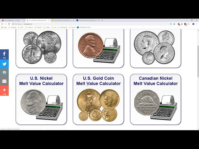 Coin Collection Value Calculator September 2019