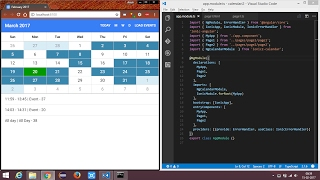 Ionic 2  Calendar with events