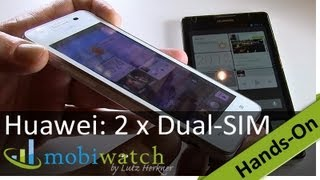 2 x 2: Huawei zeigt zwei Smartphones mit Dual-SIM - Hands-On-Video