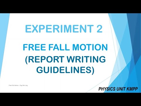 Experiment 2(a) Free Fall Report Writing