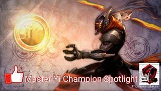 League Of Legends Wildrift Alpha Test Master Yi Champion Spotlight