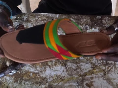 Summer slippers making African print (ankara)