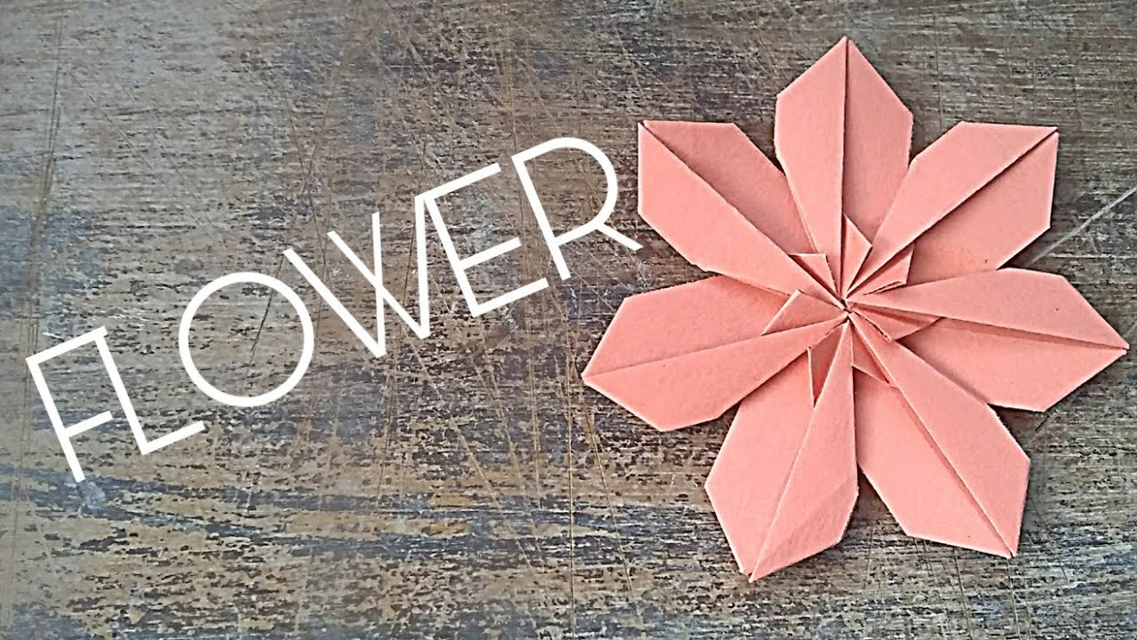 Origamiflower Paperart Papercraft Origami Flower How To Make