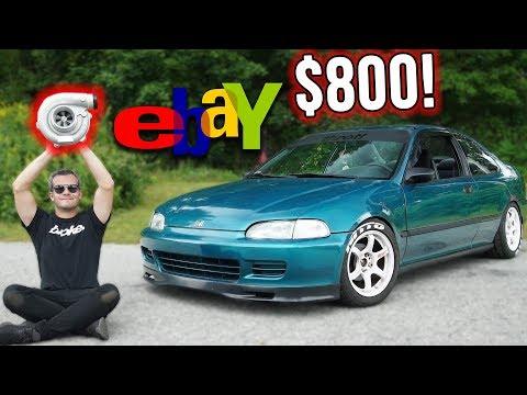 $800 CIVIC EBAY TURBO KIT BUILD!!