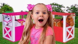 ديانا تلعب مع ألعاب الأطفال السحرية, قصص مضحكة جديدة للأطفال حول  الألعاب السحرية