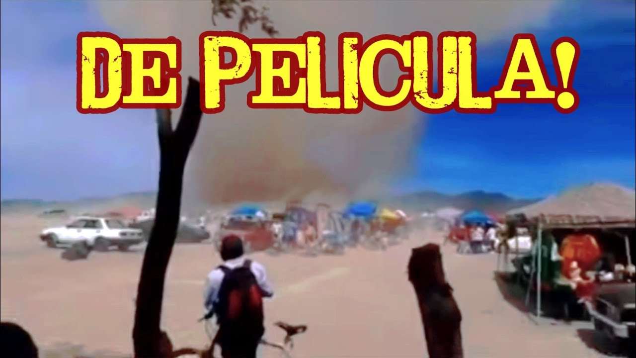 IMPRESIONANTE! Enorme Remolino arrasa con todo en Hidalgo