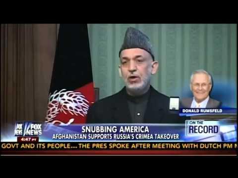 Rumsfeld: U.S. Relationship With Karzai Has Gone Downhill 'Like a Toboggan' Under Obama