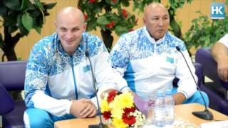 НАШ КОСТАНАЙ Ивана Дычко торжественно встретили в аэропорту Костаная 24 08 2016