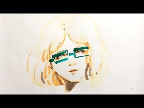 Zeichnen lernen  – Porträt zeichnen   – Tutorial, Mappenvorbereitungskurs Modedesign, Kunst
