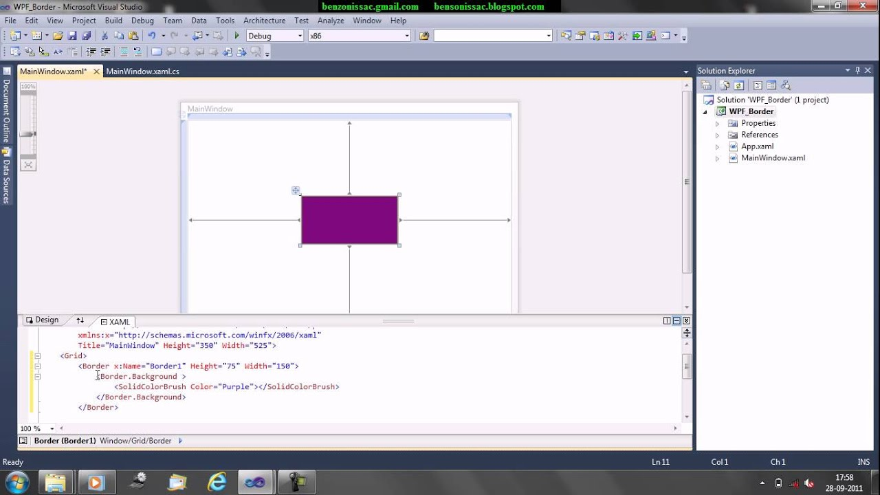 WPF Border - YouTube