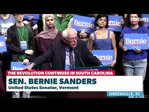 Bernie Rallies Supporters In Greenville, SC