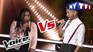 Imane VS Valentin F. -  « Come » (Jain) | The Voice France 2017 | Battle