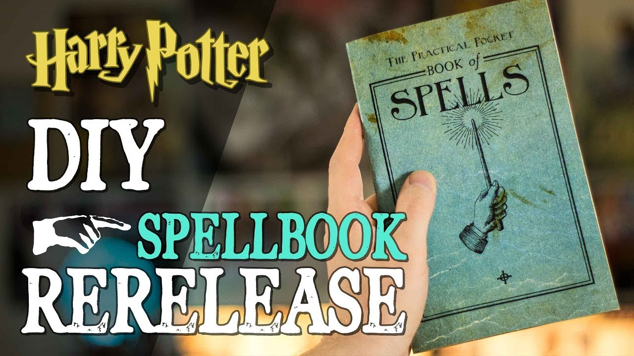 graphic about Harry Potter Spell Book Printable referred to as Do-it-yourself Spellbook Re-Launch!