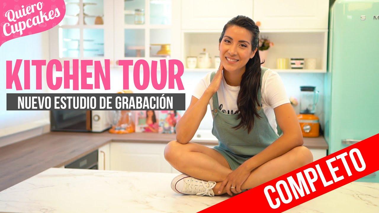 KITCHEN TOUR COMPLETO DE MI NUEVO ESTUDIO DE GRABACIÓN 📽 | QUIERO CUPCAKES