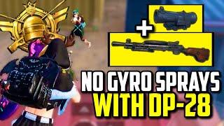 NO GYRO DP-28 SPRAYS TO WIPE SQUAD WITH MOK! | PUBG Mobile