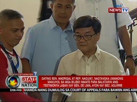 SONA: Dating Sen. Madrigal at Rep. Alonte-Naguiat, kinuwestyon ang alegasyon ni Sec. Aguirre