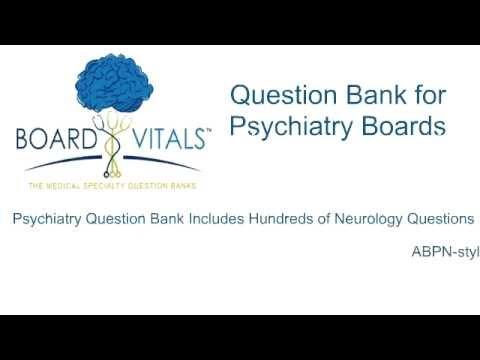 Board Vitals Question Bank For Psychiatry Boards