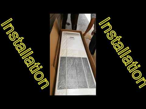 How to Install Floor Standing Air Conditioner Mitsubishi Heavy Industries