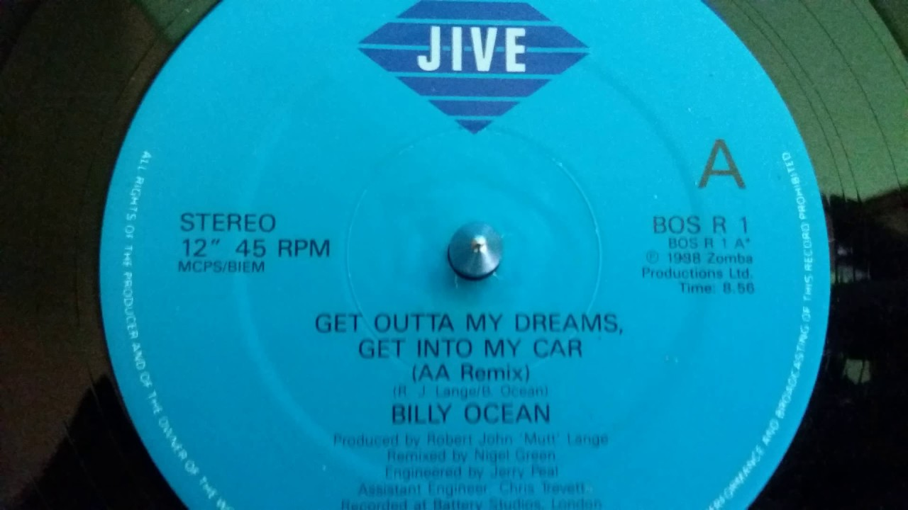 Billy Ocean – Get Outta My Dreams, Get Into My Car(AA Remix)