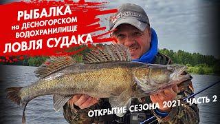 Рыбалка на Десногорском водохранилище Открытие сезона 2021 Ловля судака Часть 2