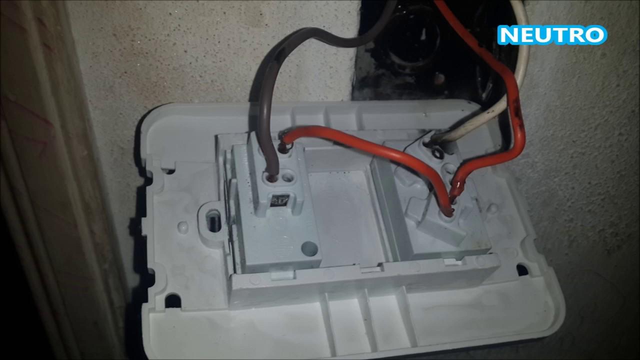 Problema en punto y toma corriente soluci n youtube for Como instalar una terma electrica