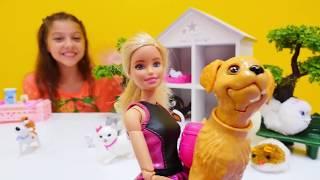 Barbie'nin köpeğini kaçırıyorlar. Polen ile #kızoyuncakları ve #Barbie oyunları.