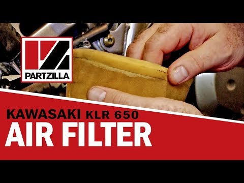 How to Change the Air Filter on a Kawasaki KLR 650 Dual Sport Bike | Partzilla.com