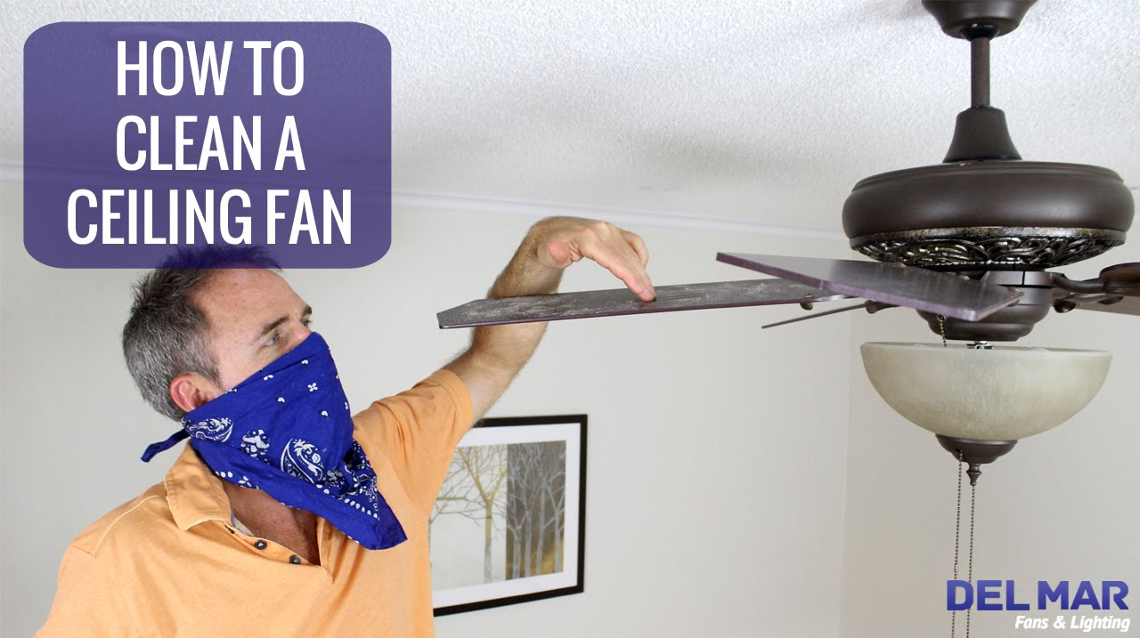 How to clean a ceiling fan youtube how to clean a ceiling fan mozeypictures Images