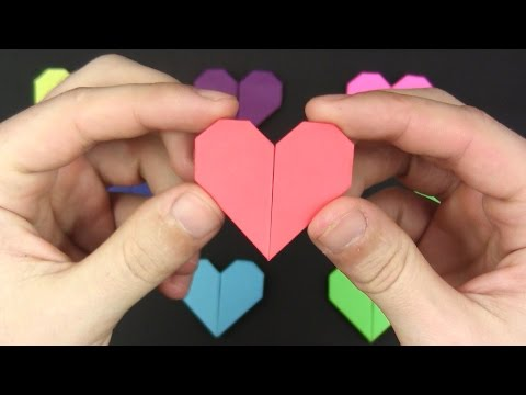 Origami EASY: HEART in 1 MINUTE  - Origami Yakomoga tutorial