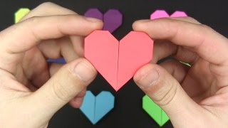 Origami HEART EASY in 1 MINUTE  - Origami easy tutorial