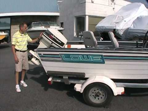 1994 Lowe 1620 at Peters Marine Service - YouTube