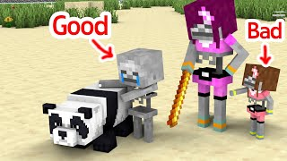 Monster School : Good Boy and Bad Girl Baby Skeleton - Sad Story - Minecraft Animation