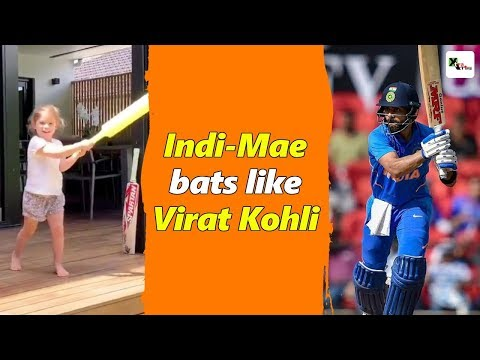 Watch: Daughter Indi-Mae bats like Virat, feels David Warner