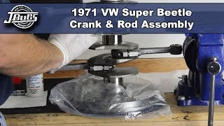 JBugs - 1971 VW Super Beetle - Engine Build Series - Crank & Rod Assembly